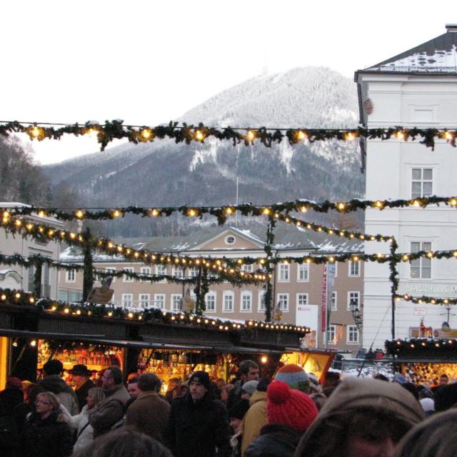 """Christmas market in Salzburg"" stock image"
