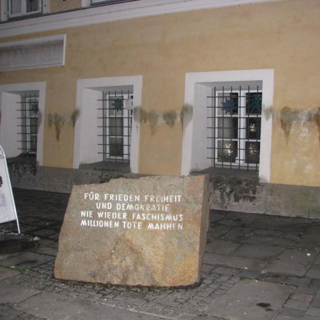 """Hitlers birthplace in Braunau am Inn"" stock image"