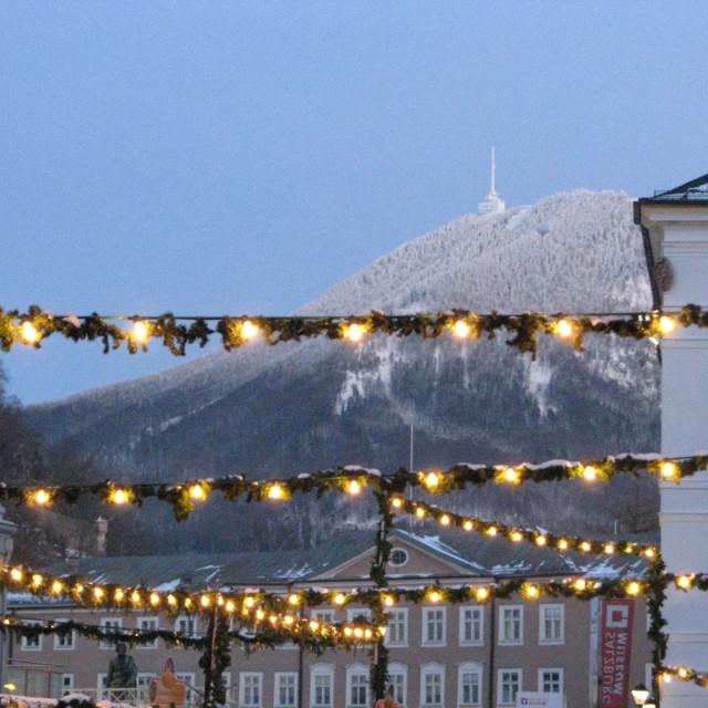"""Christmas in Salzburg"" stock image"
