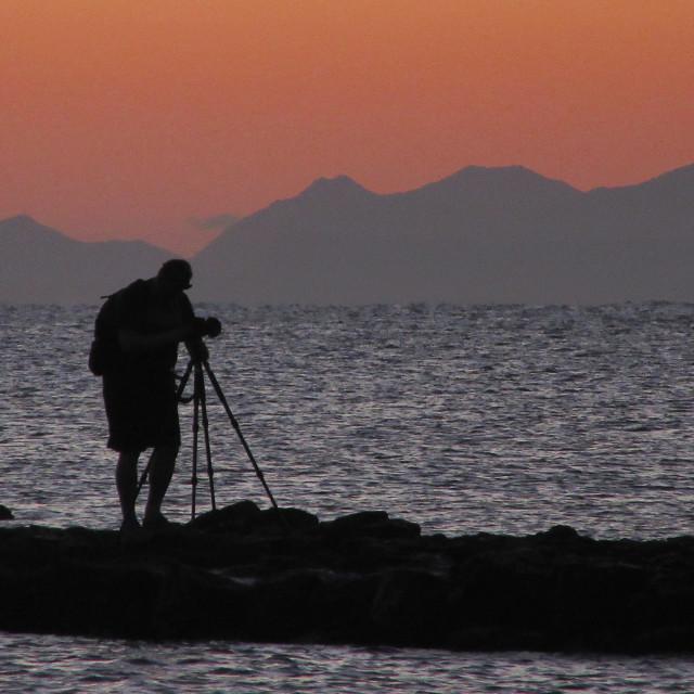 """Lone Landscape Photographer"" stock image"