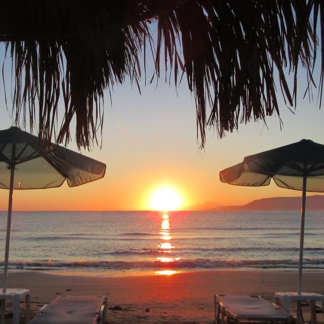 """Beach Sunrise"" stock image"