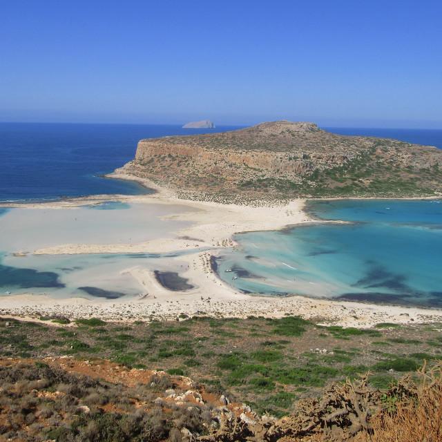 """Balos Lagoon in Crete"" stock image"