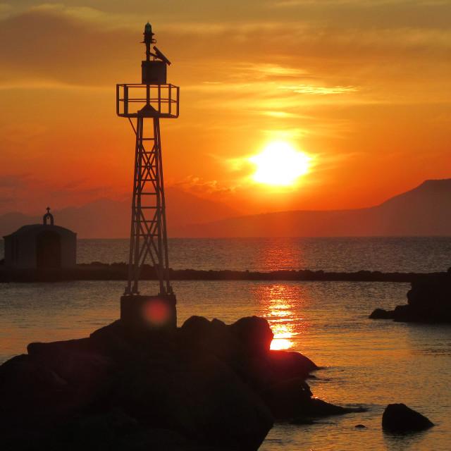 """Sunrise Over Georgiopoulos"" stock image"