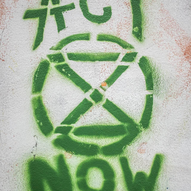 """Graffiti Of Extinction Rebellion Logo"" stock image"