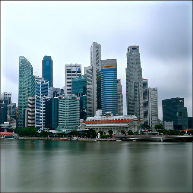 """Downtown Singapore"" stock image"