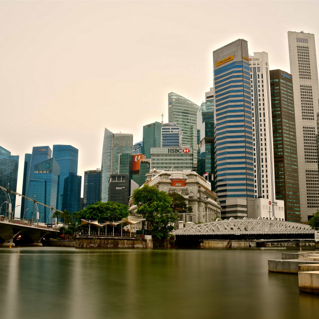 """""""Singapore Central Business District"""" stock image"""