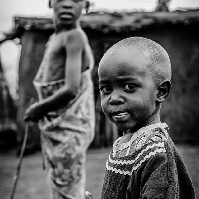 """""""Bambini di una tribù Masai"""" stock image"""