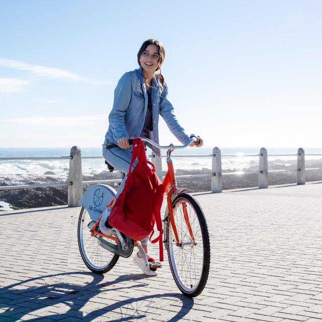 """Sunshine and Cycling"" stock image"