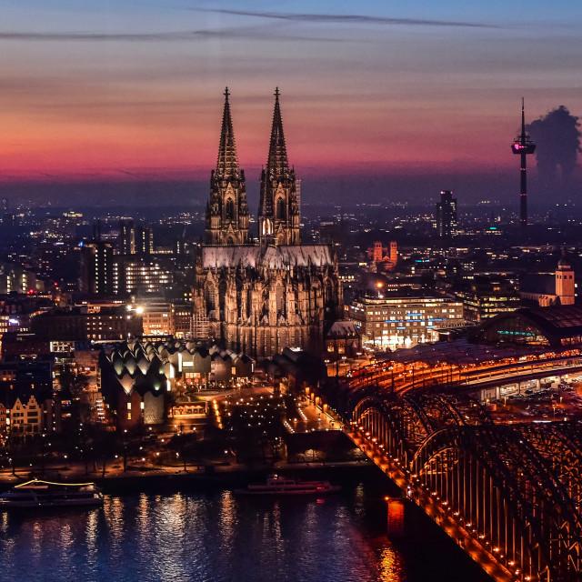 """""""Cologne Cathedral - Der Kölner Dom"""" stock image"""
