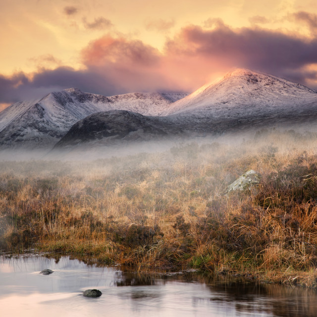 """Rannoch Dawn"" stock image"