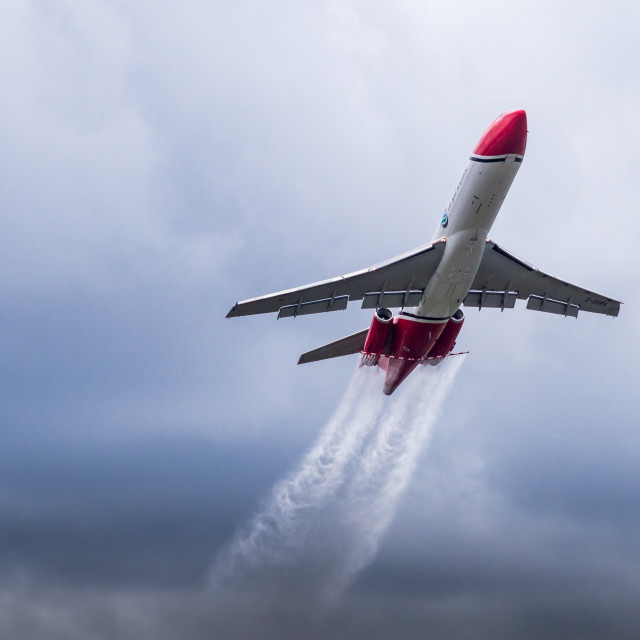 """""""Boeing 727 Oil Spill Response Aircraft"""" stock image"""