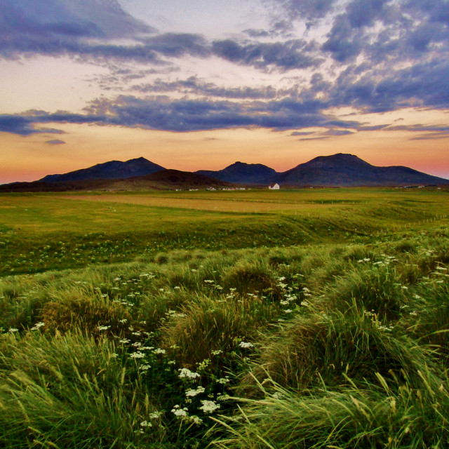 """""""South Uist Sunset"""" stock image"""