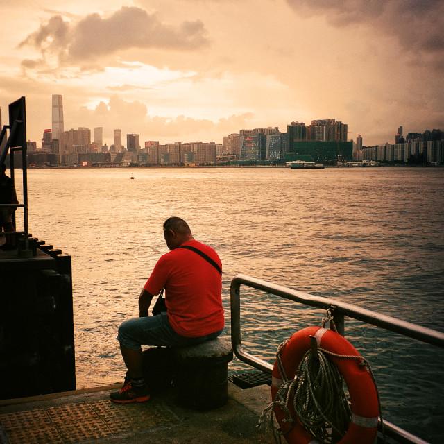"""""""North Point Pier, Hong kong"""" stock image"""