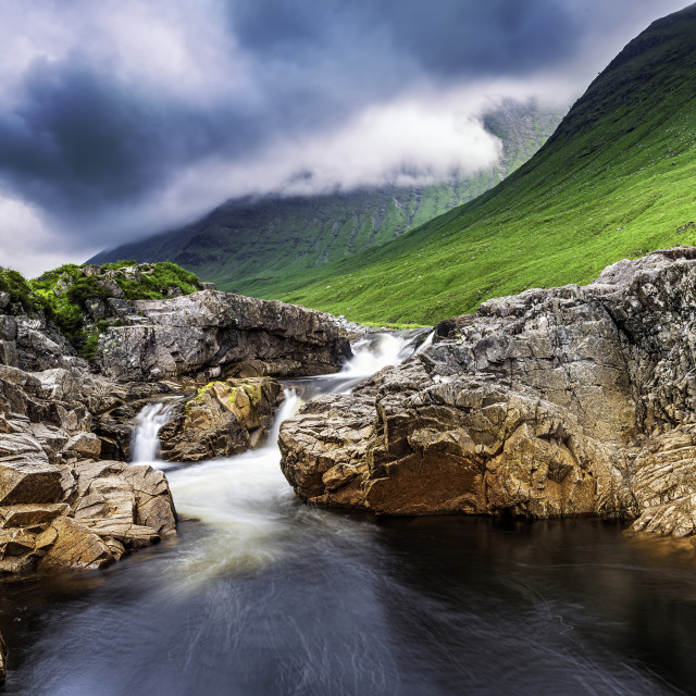 """Glen Etive Mood"" stock image"