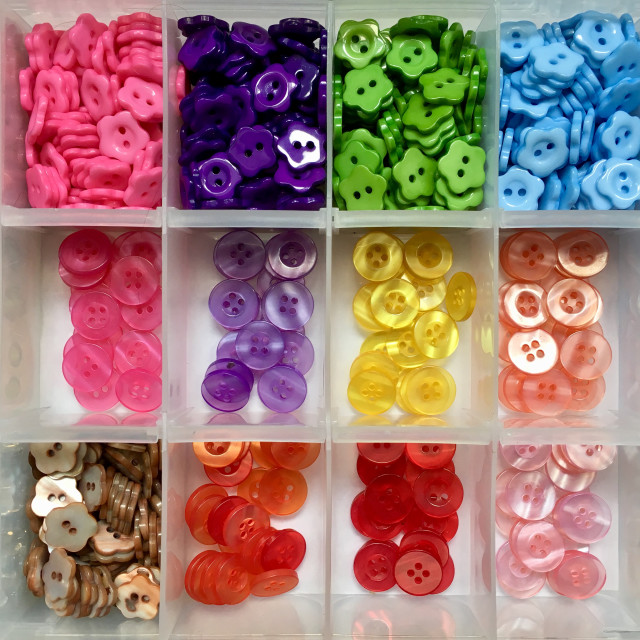 """""""Assortment of colourful buttons"""" stock image"""