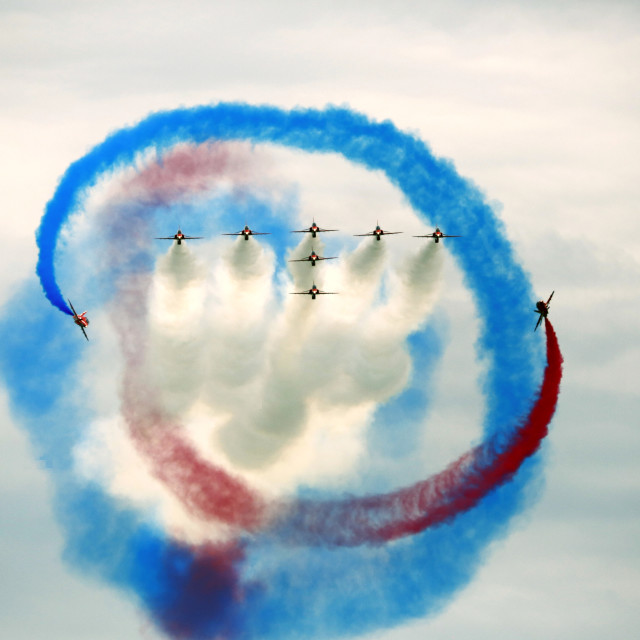 """The Red Arrows"" stock image"