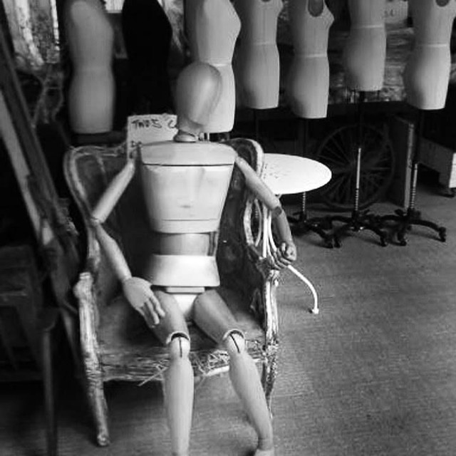 """""""Mannequin on throne"""" stock image"""