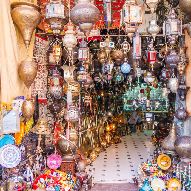 """""""Shop selling lamps Marrakech"""" stock image"""