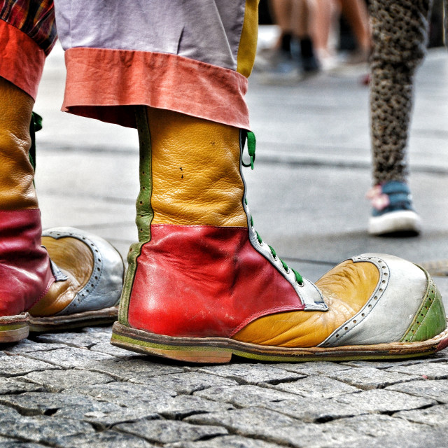 """""""Clowns footstep"""" stock image"""