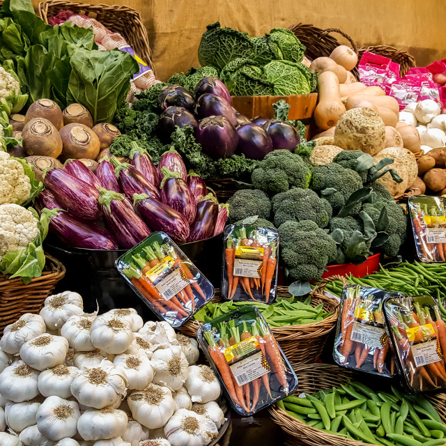"""""""A Fruit and Vegetable stall"""" stock image"""