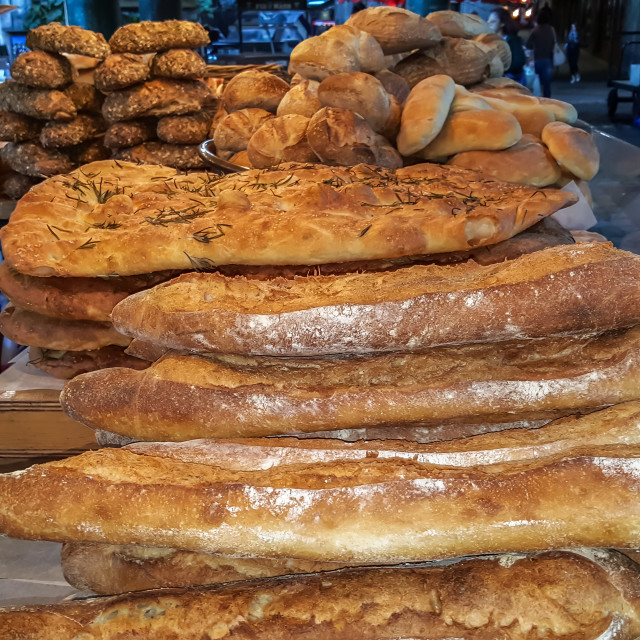 """A bread market stall"" stock image"