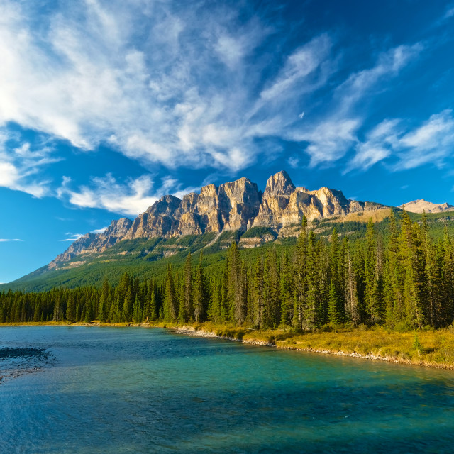 """Castle Mountain"" stock image"