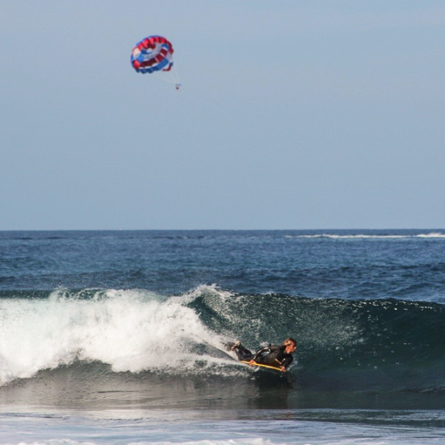 """Bodysurfing Tenerife"" stock image"