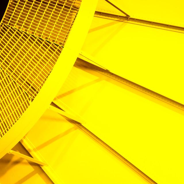 """Yellow radial bright yellow steel pattern"" stock image"