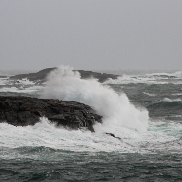 """Storm at the Norwegian Coast"" stock image"