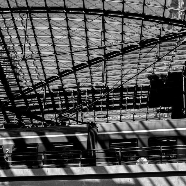 """""""Hauptbahnhof"""" stock image"""