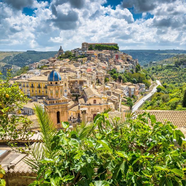 """View of Ragusa."" stock image"