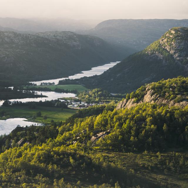 """""""Norwegian Summerscape"""" stock image"""