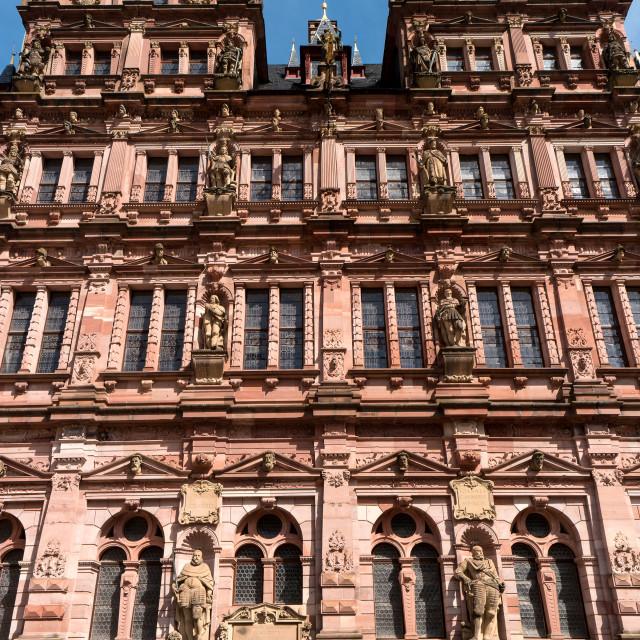 """HEIDELBERG, GERMANY - JUNE 01, 2019: Heidelberg Castle is a ruin in Germany..."" stock image"
