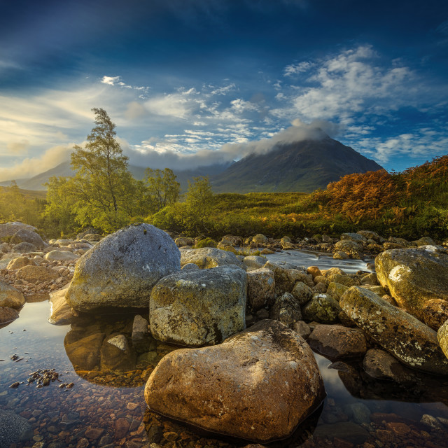 """Highland Morning"" stock image"
