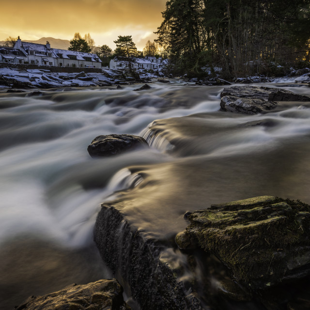 """Winter Light on the Falls"" stock image"