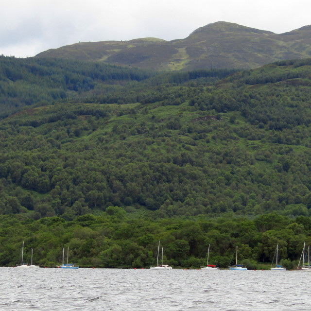 """Boats on Loch Lomond"" stock image"