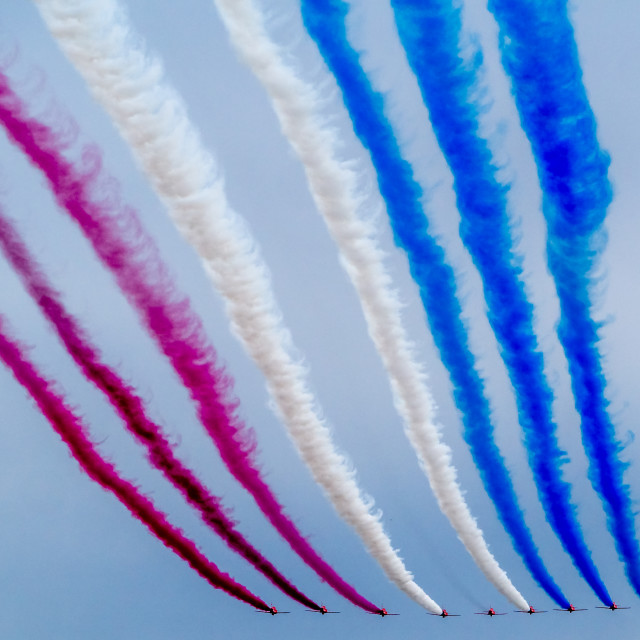 """""""The Red Arrows."""" stock image"""