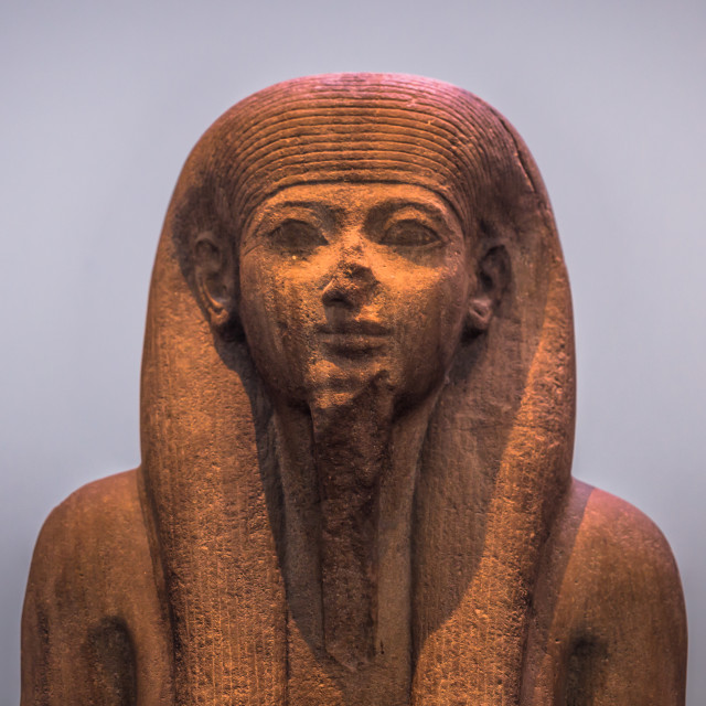 """""""London - August 06, 2018: Ancient Egyptian statue in the Brtitish Museum in..."""" stock image"""
