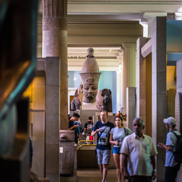 """""""London - August 06, 2018: Egyptian hall of the Brtitish Museum in London,..."""" stock image"""