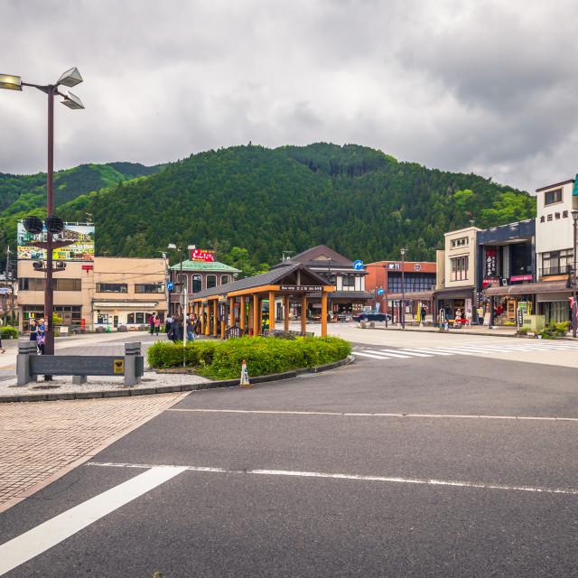 """Nikko - May 22, 2019: Main station of Nikko, Japan"" stock image"