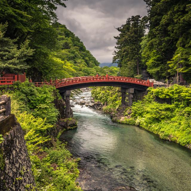 """""""Nikko - May 22, 2019: Shinkyo bridge in Nikko, Japan"""" stock image"""