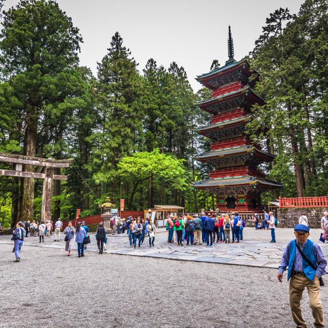 """""""Nikko - May 22, 2019: Pagoda of Toshogu shrine in Nikko, Japan"""" stock image"""