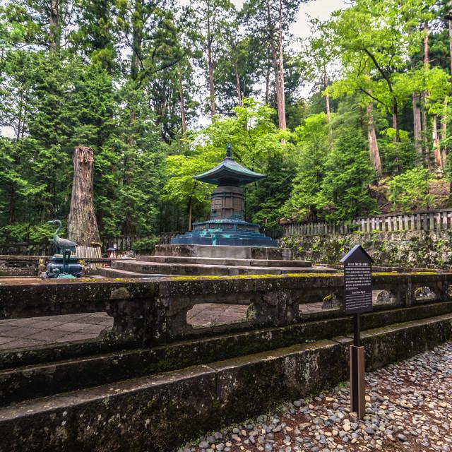 """""""Nikko - May 22, 2019: Grave of Tokugawa Ieyasu in Nikko, Japan"""" stock image"""