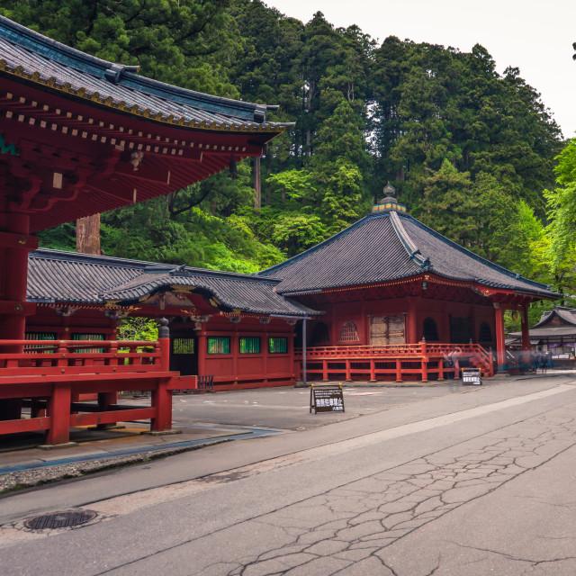 """""""Nikko - May 22, 2019: Futarasan Shinto shrine in Nikko, Japan"""" stock image"""