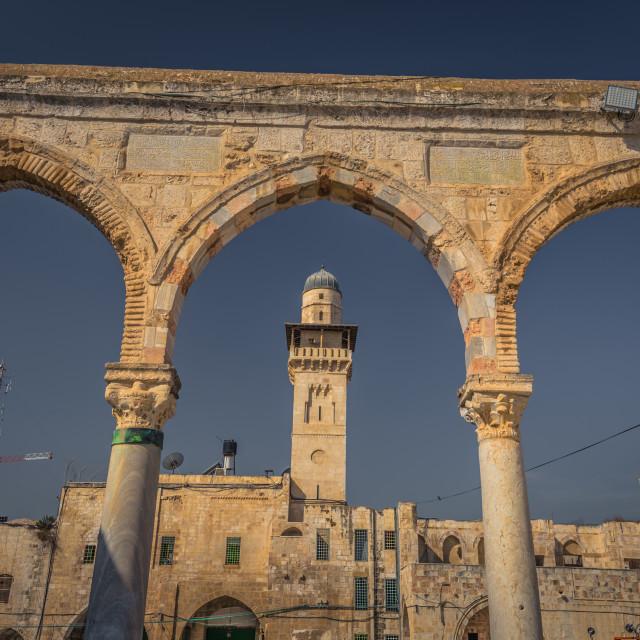 """Jerusalem - October 04, 2018: Ancient ruins of the old City of Jerusalem, Israel"" stock image"