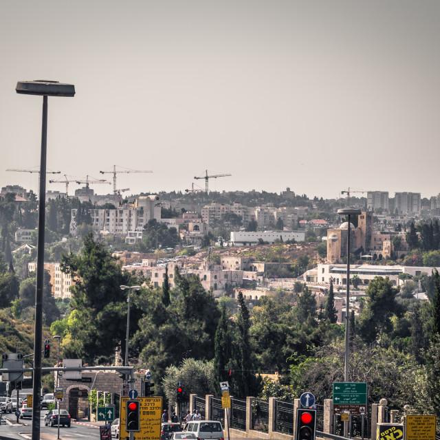 """Jerusalem - October 04, 2018: Panoramic view of Jerusalem, Israel"" stock image"