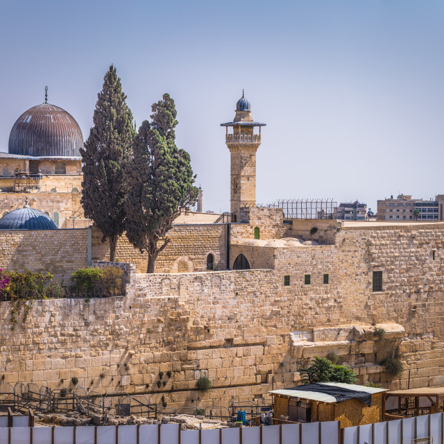 """""""Jerusalem - October 04, 2018: The Western Wall of the Jewish temple in the..."""" stock image"""