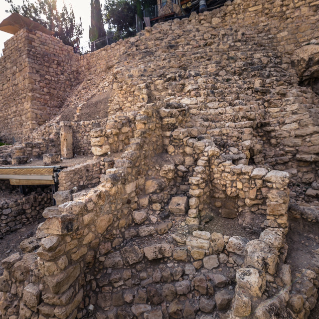 """""""Jerusalem - October 04, 2018: Ruins of the Ancient city of David in the old..."""" stock image"""