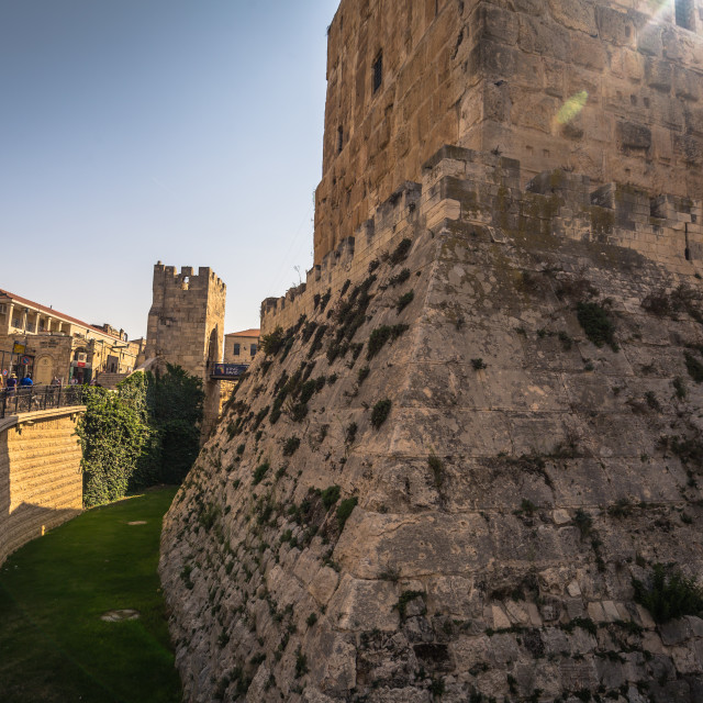 """""""Jerusalem - October 03, 2018: The ancient Tower of David in the old City of..."""" stock image"""