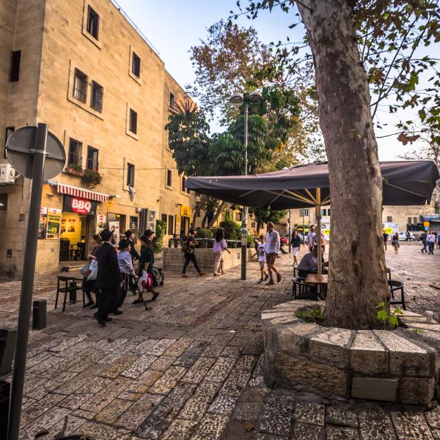 """Jerusalem - October 03, 2018: Jewish quarter of the old City of Jerusalem,..."" stock image"